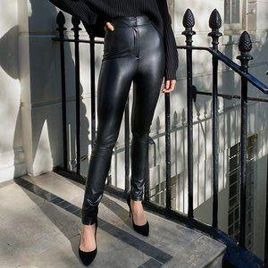 Aritzia Babaton Caspian Vegan Leather Black Pant 6